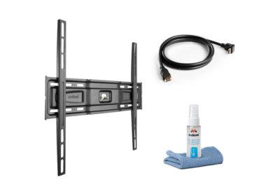 Pack Support TV + Câble HDMI + Nettoyant Ecran Les Accessoires reunion pas cher