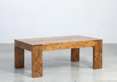Table de Salon Tahiti Les Meubles en Bois de Manguier reunion pas cher