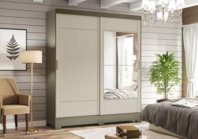 Armoire 2 Portes Coulissantes Miroir Les Chambres à Coucher reunion pas cher