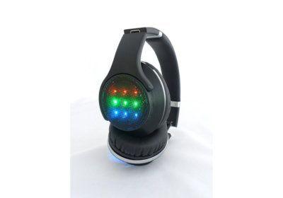 Casque Haut-Parleurs Bluetooth Lumineux (CAQ49 BTH) Mobiles / Tablettes / Casques & Écouteurs reunion pas cher