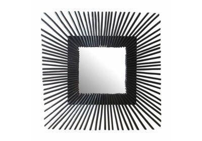 Miroir Carré en Rotin Noir Le Coin des Bonnes Affaires reunion pas cher