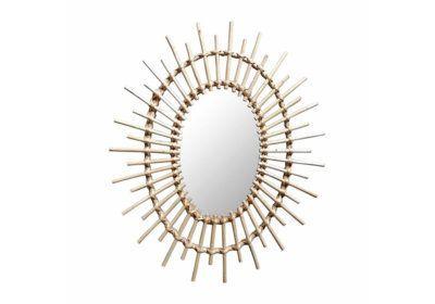 Miroir Ovale en Rotin Le Coin des Bonnes Affaires reunion pas cher