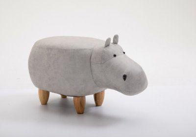 Pouf Enfant Hippopotame Gris Les Chambres d'Enfants reunion pas cher