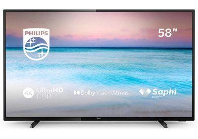 TV LED 4K HDR10+ 58»139cm Philips (58PUS7505) Les Téléviseurs reunion pas cher