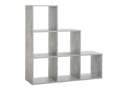 Étagère Escalier avec 6 Cubes Udine 1 Les Meubles de Complément reunion pas cher