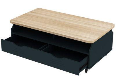 Table de Salon 1 Tiroir (Collection Veon) Les Meubles de Complément reunion pas cher