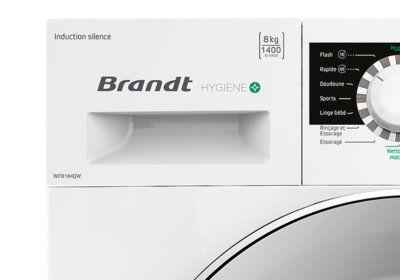 Lave-Linge 8KG Hygiène+ Brandt (WFB184QW) L'Électroménager reunion pas cher