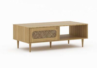 Table de Salon 1 Tiroir (Collection Woven) Les Meubles de Complément reunion pas cher