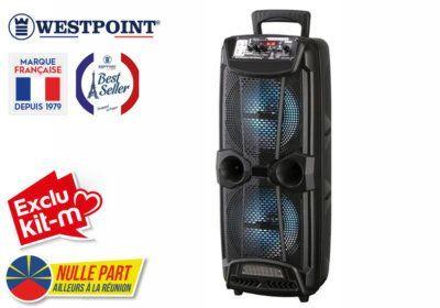 Enceinte Bluetooth Lumineuse 800W Westpoint (WTSO-6221.R) Exclus Kit-M & Nulle Part Ailleurs ! reunion pas cher