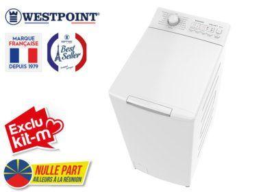 Lave-Linge TOP 6.5KG Westpoint (WLW-612D20) Exclus Kit-M & Nulle Part Ailleurs ! reunion pas cher