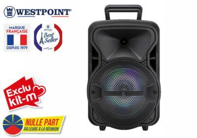 Enceinte Bluetooth Lumineuse Westpoint (WTSO-10121.R) Exclus Kit-M & Nulle Part Ailleurs ! reunion pas cher