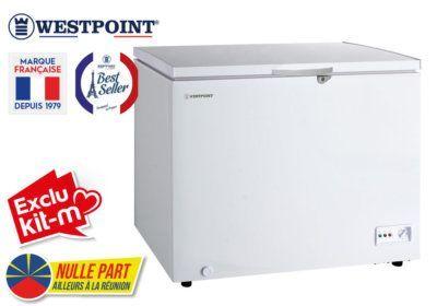 Congélateur Coffre 280L Westpoint (WBXN-31F20) Exclus Kit-M & Nulle Part Ailleurs ! reunion pas cher